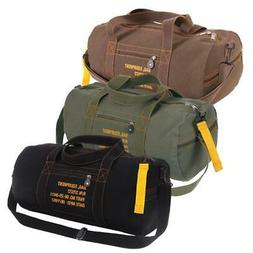 "Rothco 19"" Canvas Equipment Bag with Shoulder Strap & Twin C"