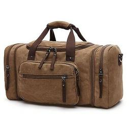 Toupons 20.8'' Large Canvas Travel Tote Luggage Men's Weeken
