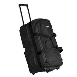 "22"" 8 Pocket Rolling Duffel Bag Luggage Travel Bag Wheels Se"