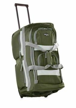 "Olympia 22"" 8 Pocket Rolling Duffel, Green, One Size"