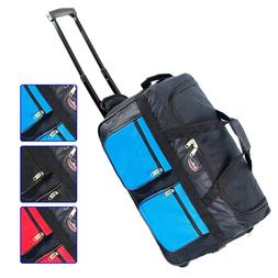 """22"""" Rolling Wheeled Duffle Bag Tote Carry On Travel Suitcase"""