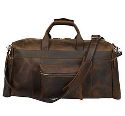 Polare 23'' Duffle Retro Thick Cowhide Leather Weekender Tra