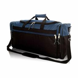 "DALIX 25"" Extra Large Vacation Travel Duffle Bag in Navy and"