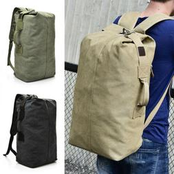 25L 35L Men's Canvas Backpack Shoulder Bag Sports Travel Duf