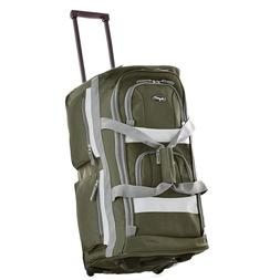 26 Inch Olive Green Duffel Rolling Luggage Suitcase Bag Olym