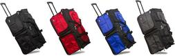 "28"" Polyester Rolling Wheeled Duffel Bag Travel Duffel Bag o"