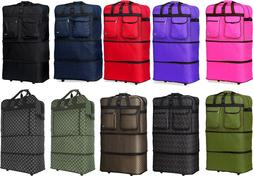 "30"" / 36"" / 40"" Expandable Rolling Duffle Bag Wheeled Spinne"