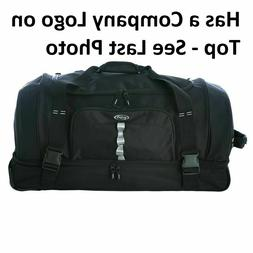 """Olympia 30"""" Drop Bottom Rolling Duffel, RD-6030, Black, with"""