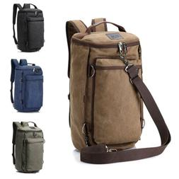 35L Large Men's Canvas Duffle Backpack Shoulder Bag Camping