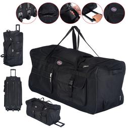"36"" Rolling Tote Duffle Bag Wheeled Luggage Travel Duffle Su"