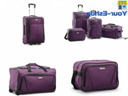 4 Luggage Sets With Spinner Wheels Travel Suitcase Rolling C