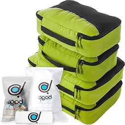 bago 4 Travel Packing Cubes For Luggage Organizer/Suitcase +