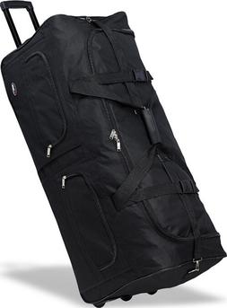 "36"" Polyester Rolling Duffel Bag Wheeled Luggage Travel Suit"