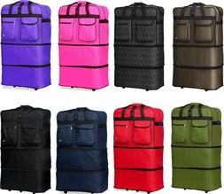 "40"" XXL Expandable Rolling Duffel Bag Wheeled Spinner Suitca"