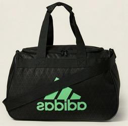 Adidas Diablo Duffel Bag BLACK GREEN LOGO ZIP TOP Fits Gym L