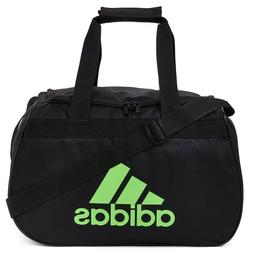 Adidas Diablo Duffel Bag BLACK LIME GREEN ZIP TOP Fits Gym L