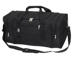 Everest Luggage Sporty Gear Duffle Travel Bag - Large, Black