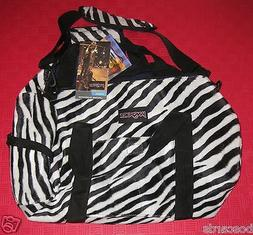 JANSPORT INNER BEAST REVERSIBLE DUFFLE BAG ZEBRA STRIPE ELEC