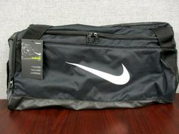 Nike BRASILIA 6 Medium Duffel Bag Shoulder Belt Black Gym Sp