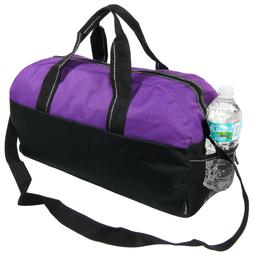 Purple/Black Gym Bag Duffel Workout Sport Bag Overnight Trav