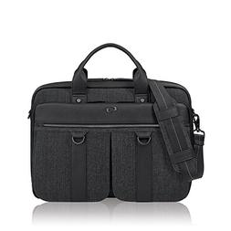 Solo Mercer 15.6 Inch Laptop Briefcase, Black/Grey