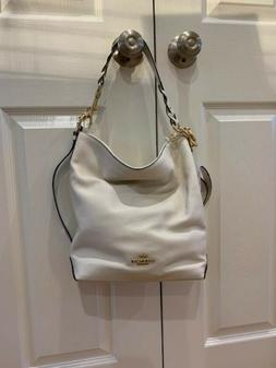 Coach Abby Duffle Ivory/Cream Leather Bag--NEW w/tags-FREE s