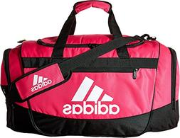 adidas Defender III medium duffel Bag, Shock Pink/Black/Whit