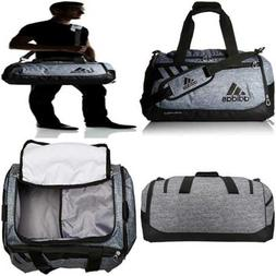 adidas Team Issue Duffel Bag, Small, Onix Jersey/Black