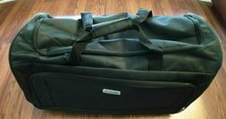 AMEICAN TOURISTER ROLLING TRAVLEING DUFFLE BAG BLACK WITH WH