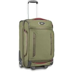 "High Sierra AT8 22"" Carry-On Wheeled Duffel Upright, Olive/C"