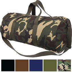 "Best Canvas Duffle Bag, 24"" x 12"" Camo Army Gym Recreational"