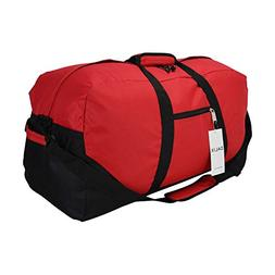 """DALIX 25"""" Big Adventure Large Gym Sports Duffle Bag in Red"""