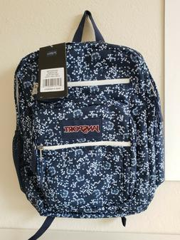 BRAND BEW!!JANSPORT BIG STUDENT BACKPACK -  NAVY FLORAL FIEL