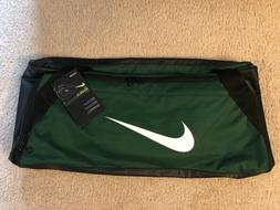 Nike Brasilia 6 Duffel Gym Athletic Bag BA5334-333 Green/Bla
