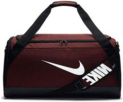 Nike Brasilia Duffel Gym Bag Medium Size Dark Team Red Black