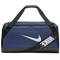 "Nike Brasilia MEDIUM Duffel Bag "" NAVY "" NEW + free shipping"