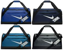 Nike Brasilia Medium Duffel Gym Bag Blue/Grey/Teal BA5334 Ne