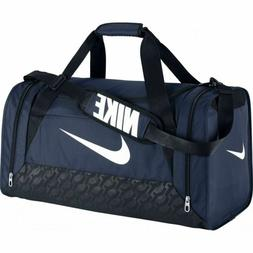 NIKE Brasilia Medium Training Duffel Bag $45 Navy Black Whit