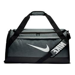 "Nike Brasilia MEDIUM Training Duffel Bag ""GREY"" NEW + free s"