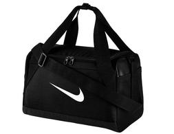 NIKE Brasilia Training Duffel Bag,Black/Black/White, Small