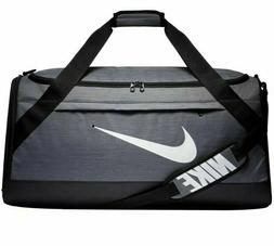 Nike Brasilia Training Duffel Bag- Large Gray And Black BA59