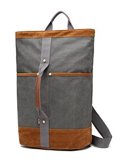 Canvas Rucksack Travel Backpack BEFAiR Vintage Duffel Bag Sh