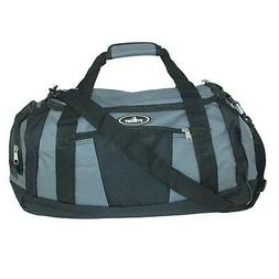 Everest Casual Duffel with Wet Pocket-Standard, Dark Gray/Bl
