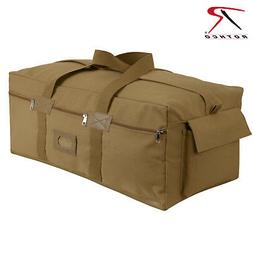 Coyote Brown Canvas Israeli Type Duffle Bag - Extra Large Mi