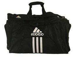 "Adidas Scorer MEDIUM Duffel Black BLUE 25"" TOP ZIP VENTED PO"