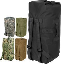Double Strap Military Carry Duffle Bag Backpack Heavyweight