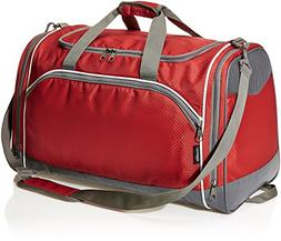 AmazonBasics Sports Duffel - Small, Red