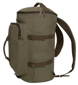 Duffel Bag Backpack Convertible OD Olive Drab Brown Canvas 1