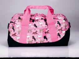 Wildkin Duffel Bag - Horses in Pink