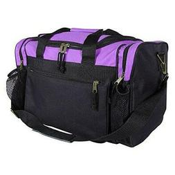 "DALIX 17"" Duffle Travel Bag with Front Mesh Pockets in Purpl"